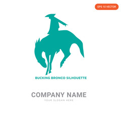 bucking bronco company logo design