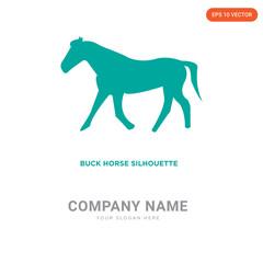 buck horse company logo design