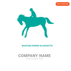 bucking horse company logo design