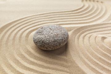 Acrylic Prints Stones in Sand zen garden meditation stone background