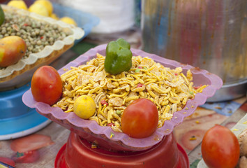Indian Spicy Snack in Market