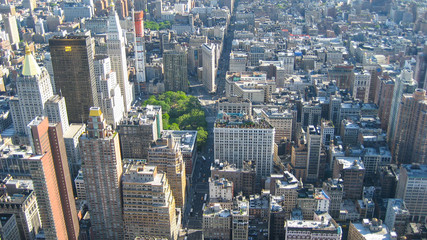 New York City view from top