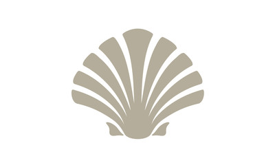 Beauty Seashell Oyster Scallop Shell Bivalve Cockle Mussel Clam Simple Silhouette logo design