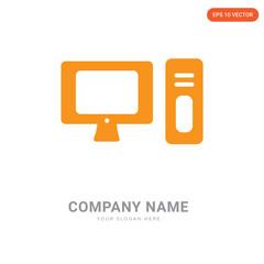 Computer company logo design
