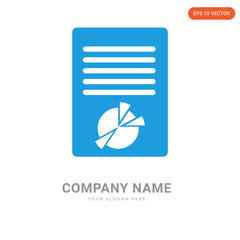 Chart on document company logo design