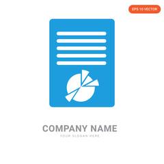 Chart on document company logo design