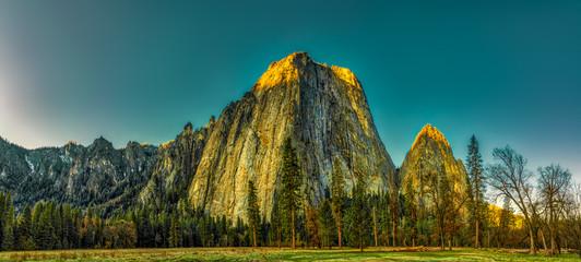 Photo sur Aluminium Bleu vert Yosemite
