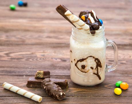 vanilla milkshake Willy Wonka