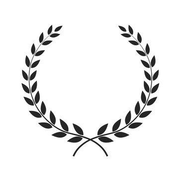 Laurel wreath vector illustration placed on white.