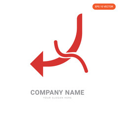 Hook with Worm company logo design