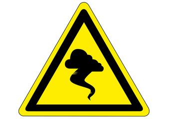 Schild Gefahr durch Tornados