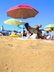Beach Sun Umbrellas people