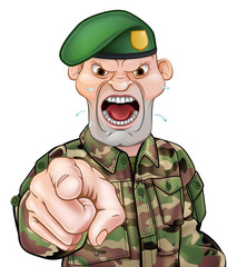 Pointing Soldier Cartoon