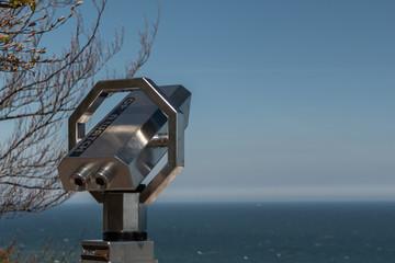 Teleskop, Fernglas am Königsstuhl im Nationalpark Jasmund, Sassnitz