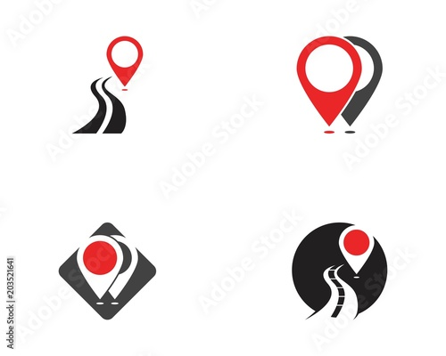 Point Location Logo Template