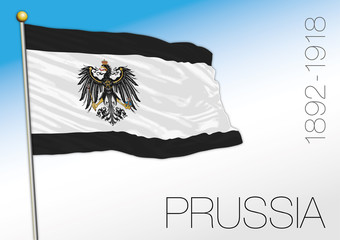 Prussia historical flag and coat of arms, Germany