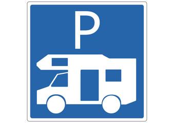 Schild Wohnmobilparkplatz