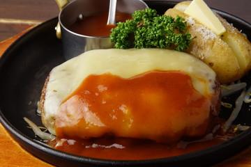 チーズ焼ハンバーグ