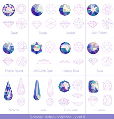 Colorful diamonds collection - part 2. eps10 vector illustraion