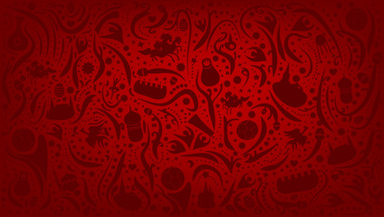 Russian Red Football Background