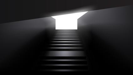 Dark Urban Sity Underground Stairs