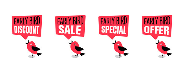Early bird special, discount, sale or offer banner or poster Fotobehang