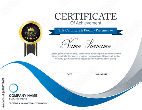 Vector Certificate Template Stock Image And Royalty Free Vector