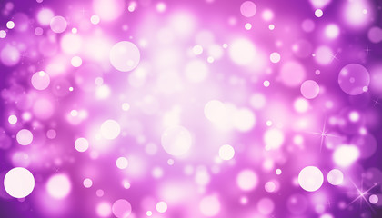 Pink glitter sparkles rays lights bokeh Festive Elegant abstract background.