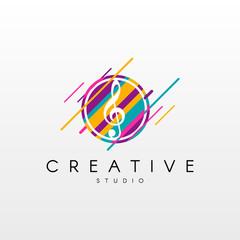 Dynamic Music Logo.