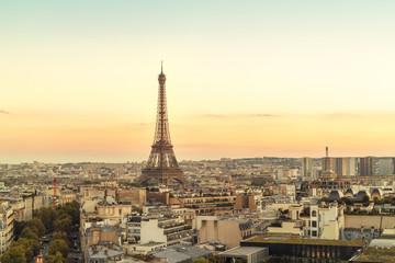 France, Paris, view to Eiffel Tower