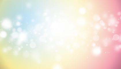 Pastel color glitter sparkles rays lights bokeh Festive Elegant abstract background.