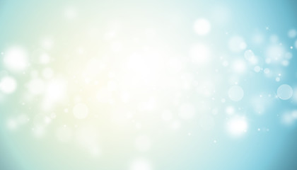 Blue and Gold glitter sparkles rays lights bokeh Festive Elegant abstract background.