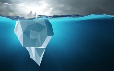 Low poly Eisberg / Spitze des Eisbergs