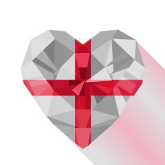 Vector English heart the flag of England.