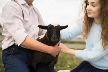 black sheep and farmer family