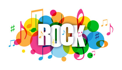 ROCK Colorful Vector Letters Icon