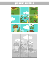 Jigsaw Puzzle Forest Snail