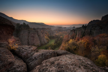 Before the sunrise at the Belogradchik rocks, Bulgaria