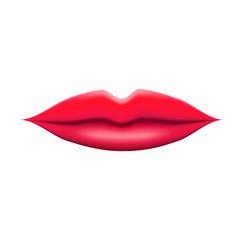 Realistic 3D Lips Cartoon Vector