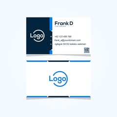 business card simple modern vector