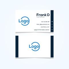 business card simple modern vector design