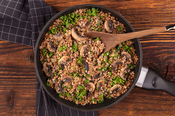 Delicious buckwheat risotto.