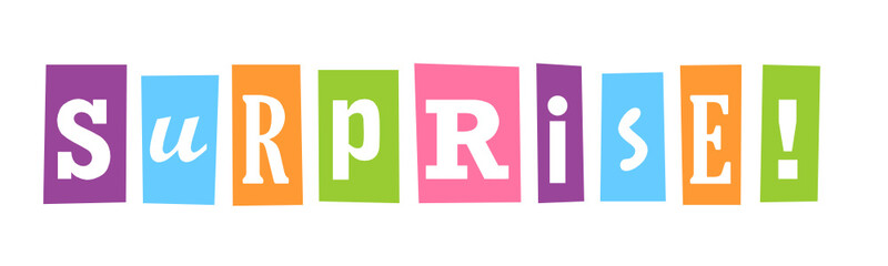 SURPRISE! Colourful Letters Banner