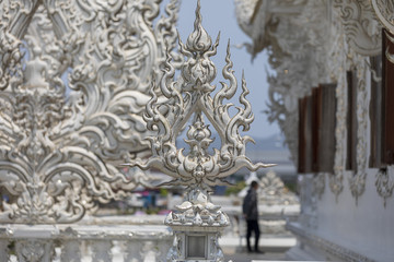チェンライの白い寺ワット・ロンクン