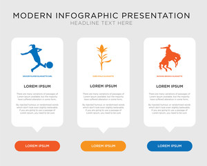 bucking bronco, corn stalk, soccer player infographic