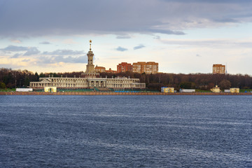 View of North River Terminal in Moscow. Russia