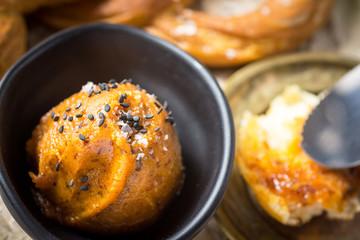 Bavarian Pretzel with Homemade Mangalica Fat Spread