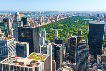 Photo sur Toile New York New York skyline and Central Park