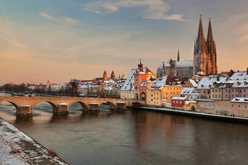 Regensburg im letzten Licht