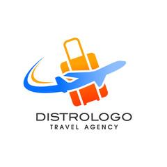 travel agency logo vector template. Holiday logo template vector icon